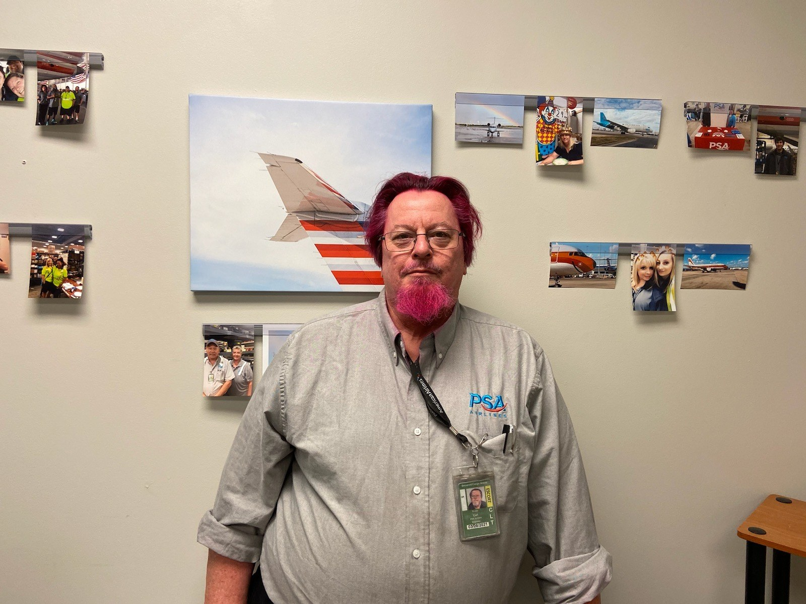 CLT Stores Supervisor, Duane Carl Festive for Be Pink Day