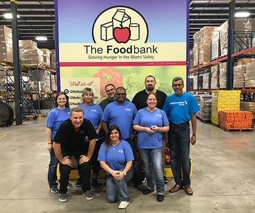 PSA Team Members Participated in Tornado and Hurricane Relief Efforts at The Foodbank, Inc. in Dayton