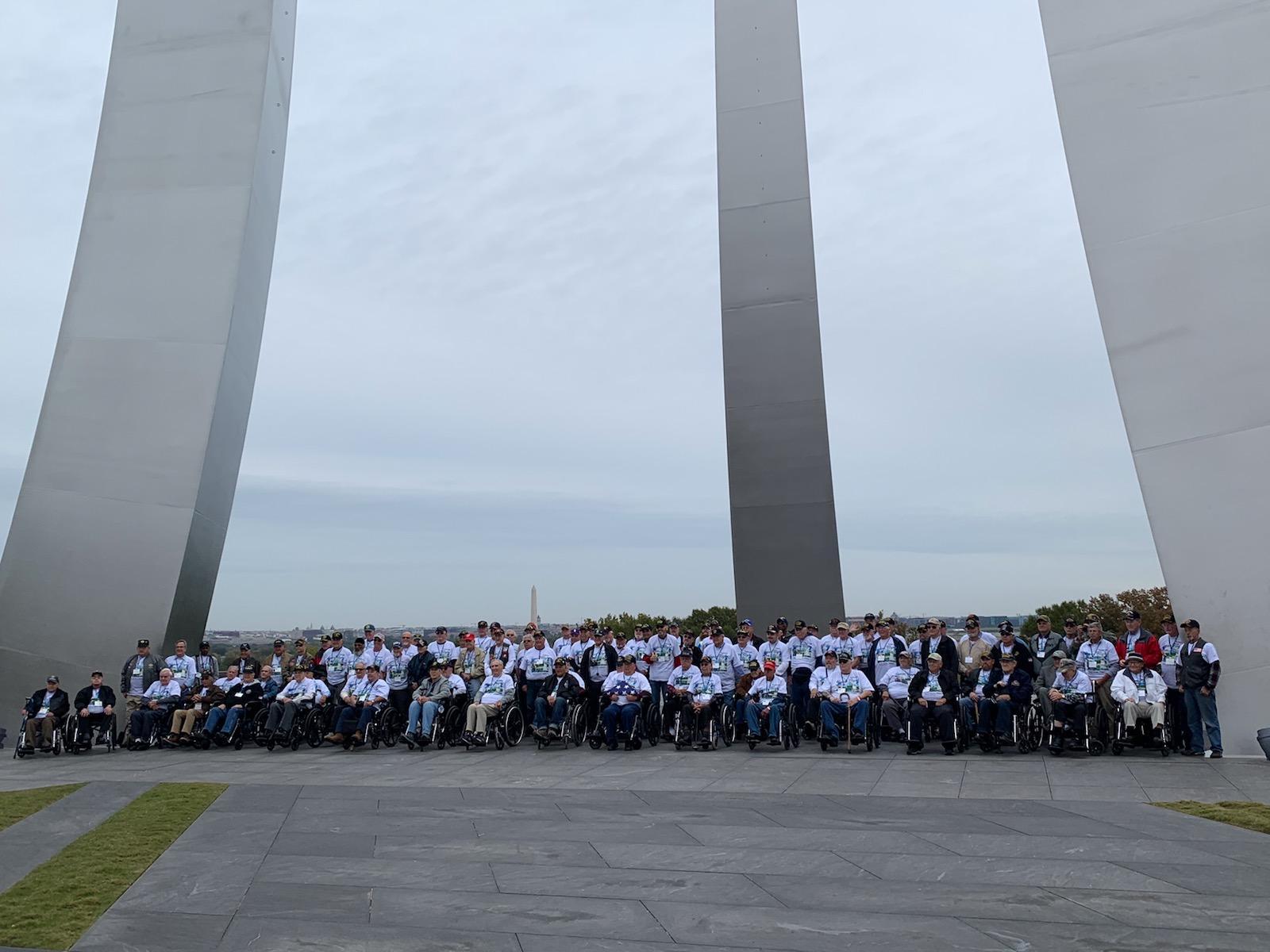 Honor Flight Dayton Veterans Enjoying Their Memorials In D.C.