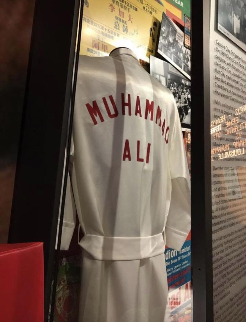 Muhammad Ali's boxing robe at Muhammad Ali Center in Louisville