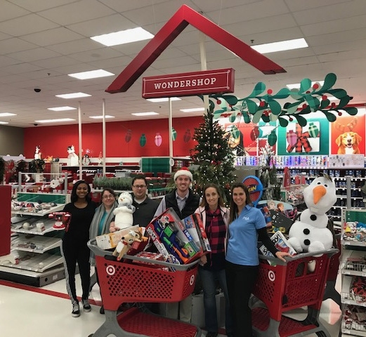 DCA Team Members Purchasing Toys for Tots for Tots Drive