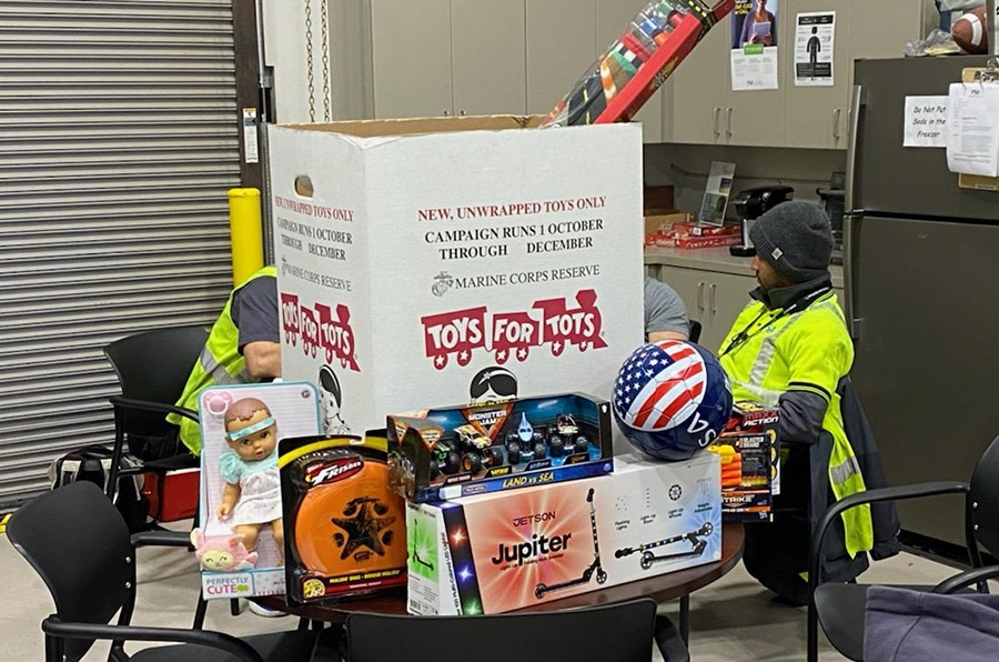 The PNS Maintenance Team Donates to Toys for Tots