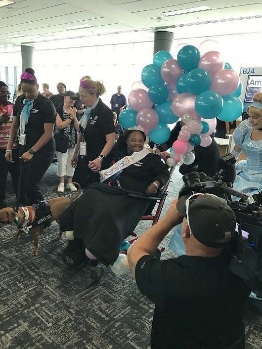 Princess Shannie Receives a Royal Welcome at Her Final Destination in CVG