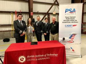 PSA Airlines and Florida Institute of Technology Sign Cadet Program Agreement Helping Move the Most Promising Pilots from the Classroom to the Cockpit