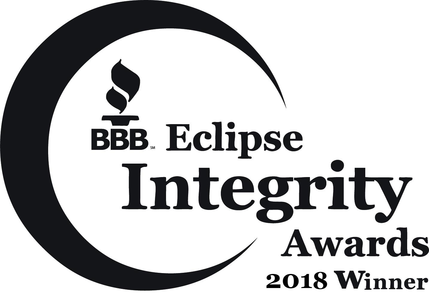 Better Business Bureau's Eclipse Integrity Awards 2018 Winner