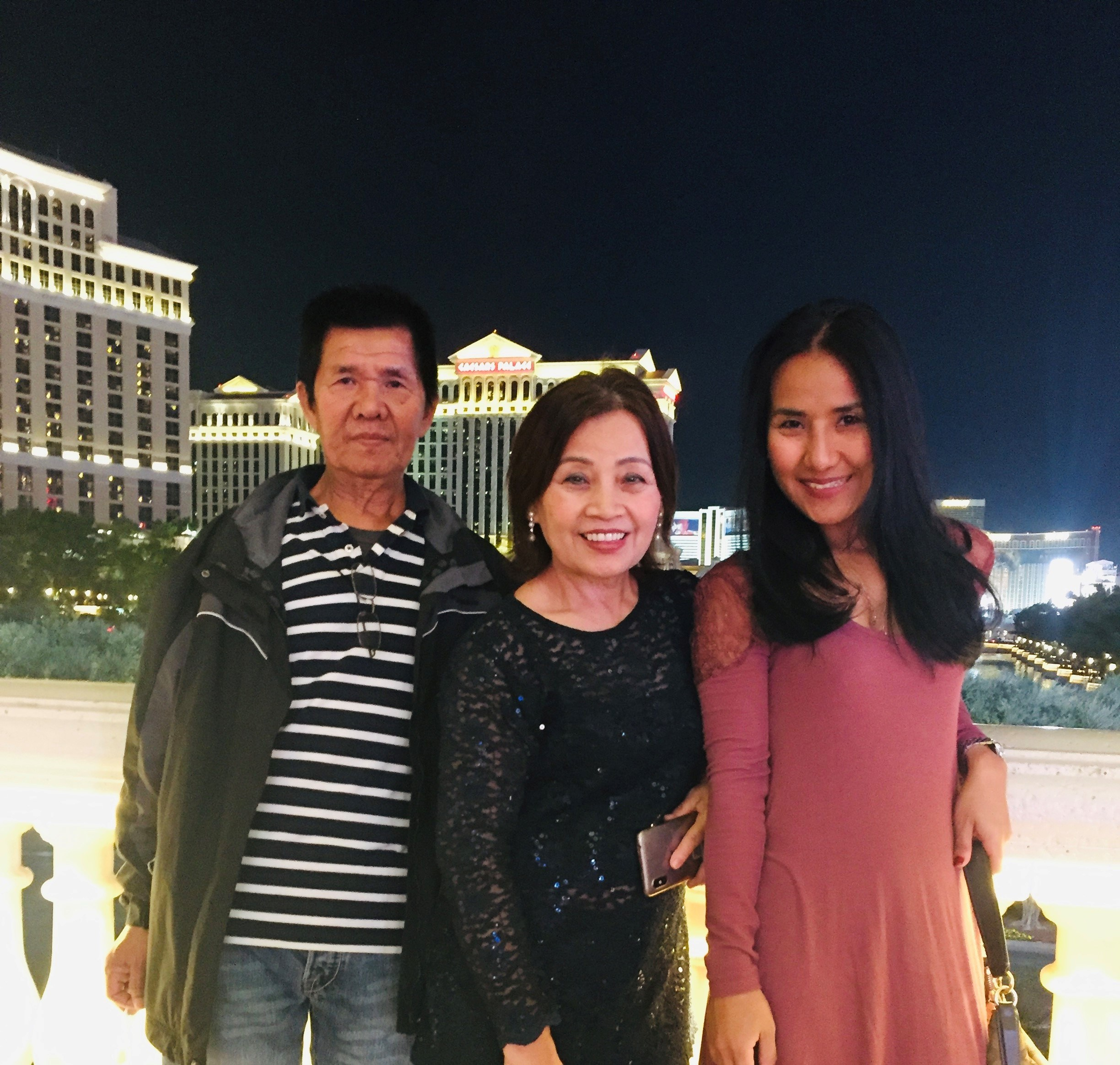 Aoy with her parents