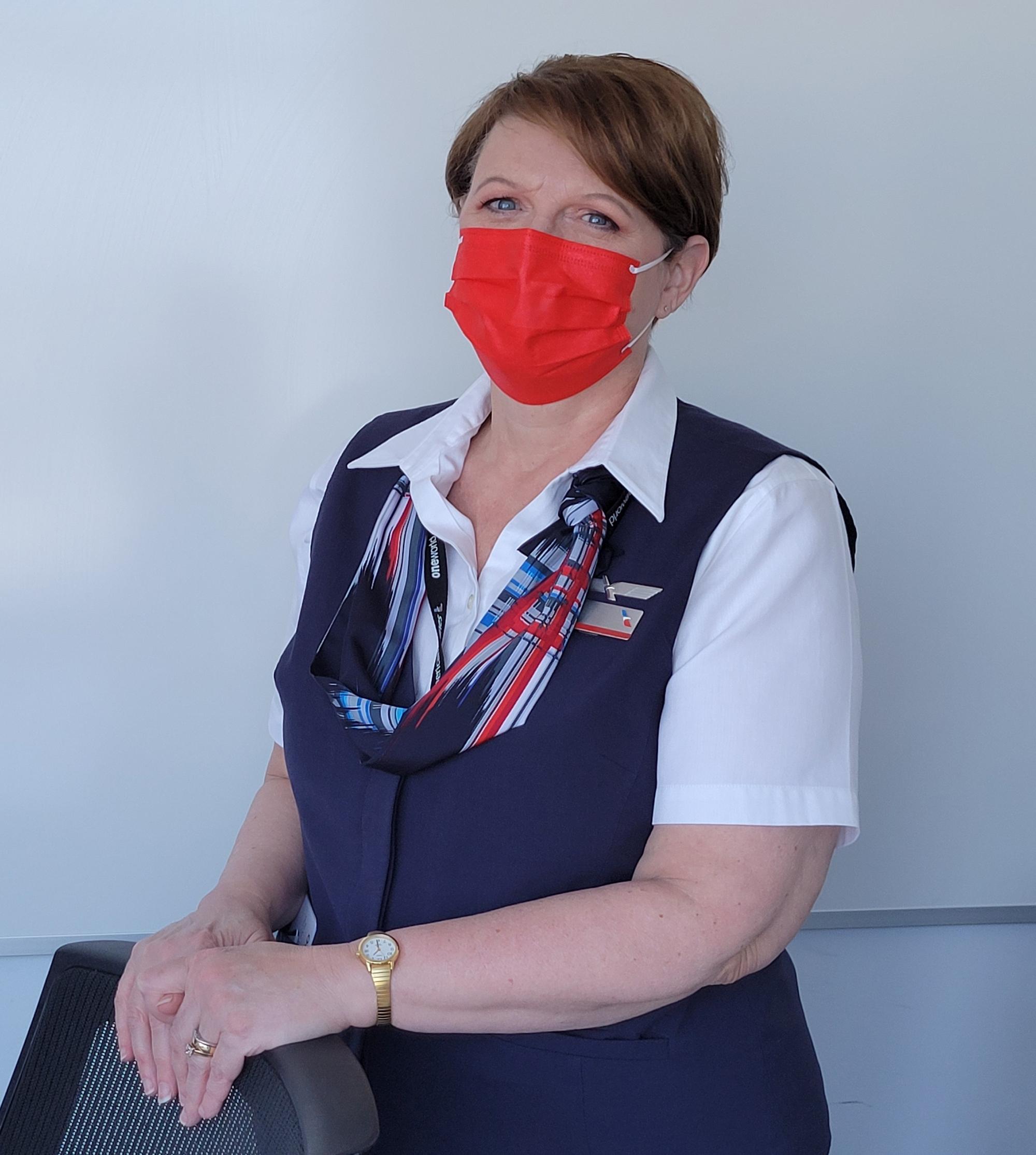 Check Flight Attendant Julie Mosteller