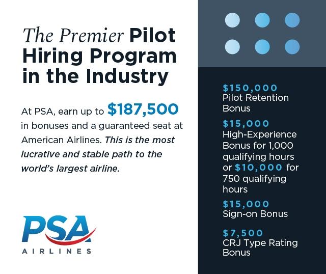 PSA Pilot Retention Bonus Program