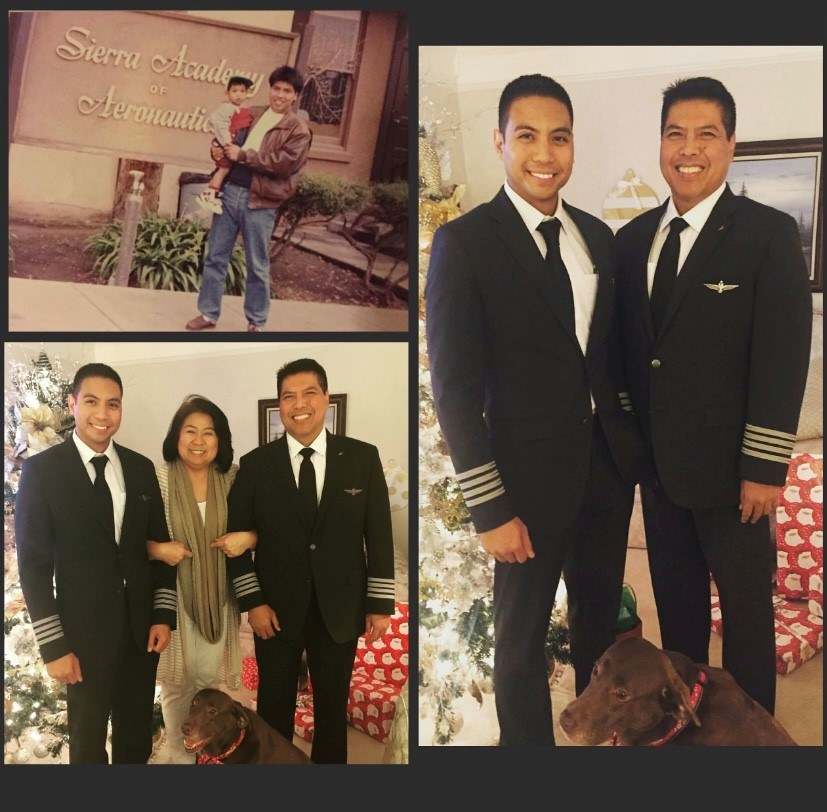 Captain Paolo Alisasis with his family