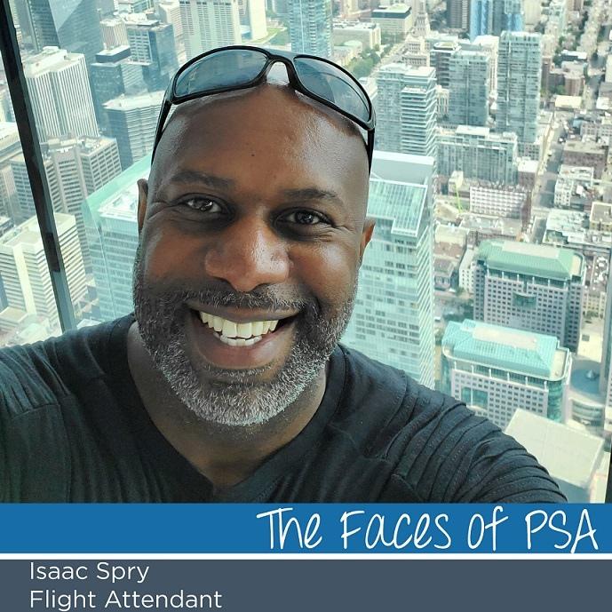 Flight Attendant Isaac Spry